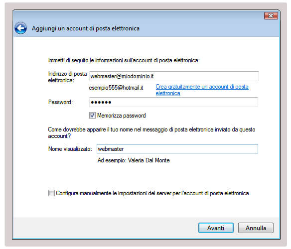 Configurare la posta elettronica con il protocollo pop3 con Windows Live Mail